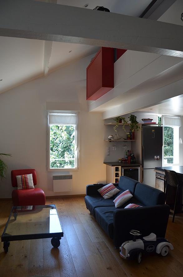 cr ation d 39 une mezzanine anglet pays basque quartz atelier d 39 architecture. Black Bedroom Furniture Sets. Home Design Ideas