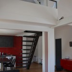 mezzanine anglet escalier métallique